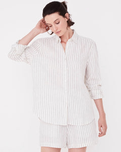 Assembly Label Xander Linen Shirt - Airlie Stripe