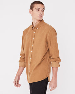 Assembly Mens Cord Shirt - Sepia