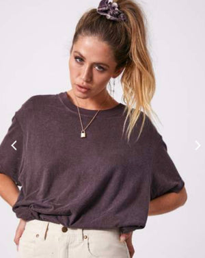 Afends Slay Hemp Oversized Tee - Mulberry