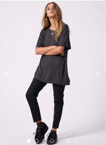 Afends Slay Hemp Oversized Tee - Raven