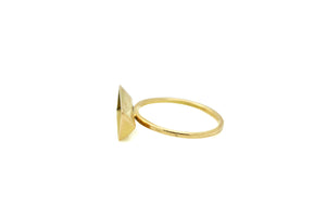 Triangle prism ring - 18k gold
