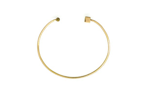 Geo square bar cuff - 18k gold