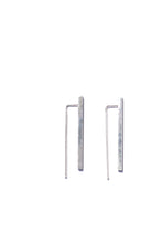 Double bar earrings - Silver