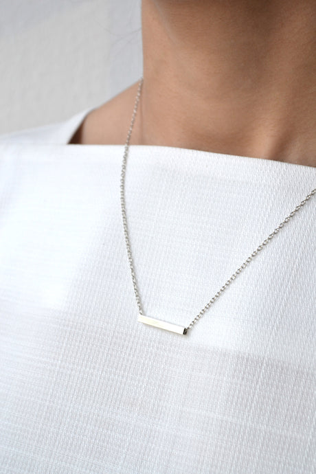 Swing bar necklace - Silver