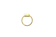 Rectangle hoop ring - 18k gold