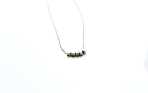 Dainty cube repitition  necklace - Silver