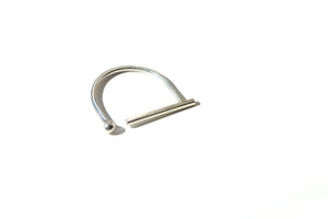 Bar orb open ring - Silver