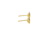 Triangular prism stud earrings - 18k gold