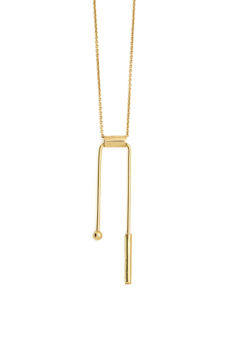 Geo balance necklace - 18k gold