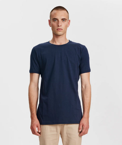 Harbour Crew Neck T-Shirt | Navy Blue