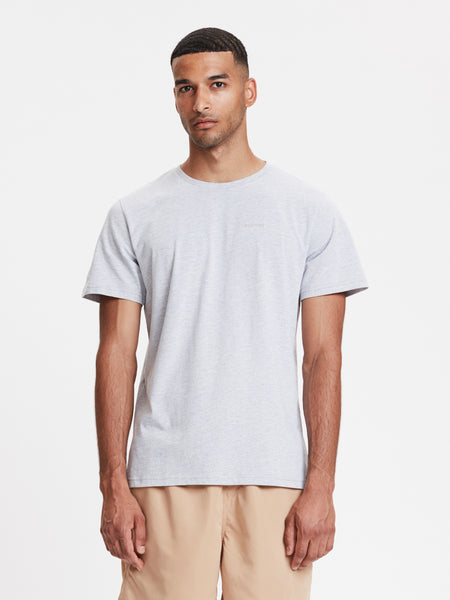 Venice Embroidered T-Shirt | Grey Melange