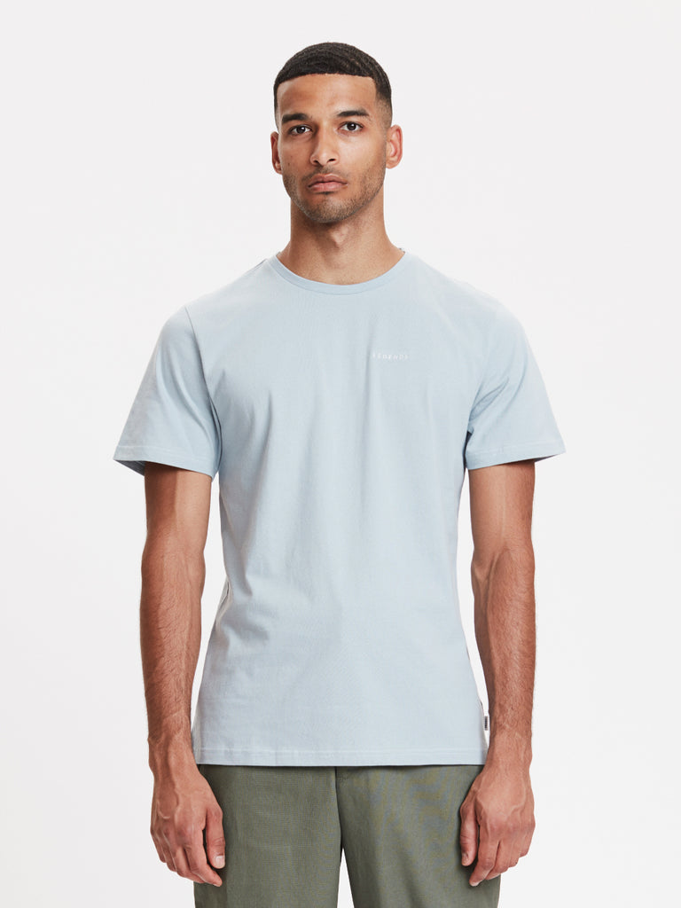 Venice Embroidered T-Shirt | Dusty Blue