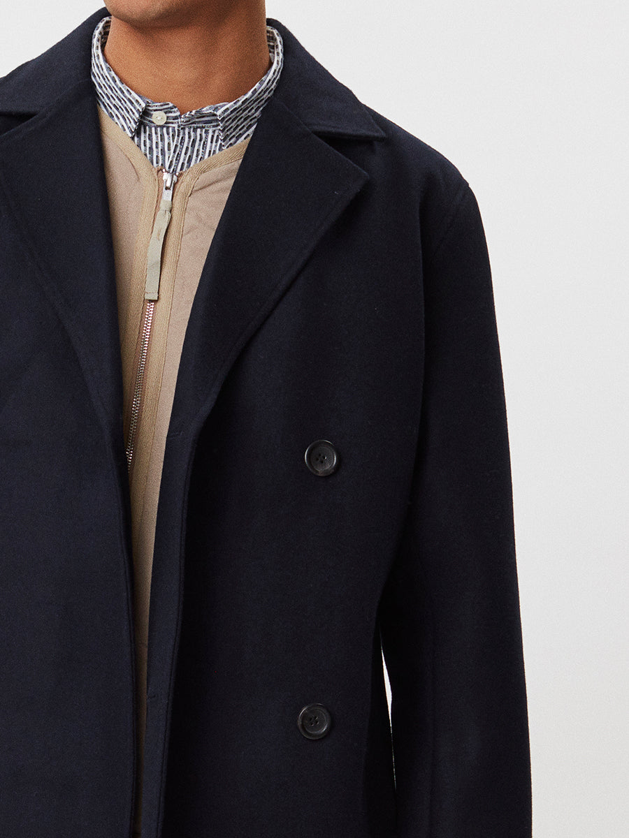 Frankie Wool Coat | Navy