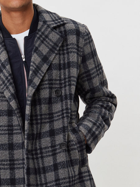 Frankie Check Coat | Grey Check
