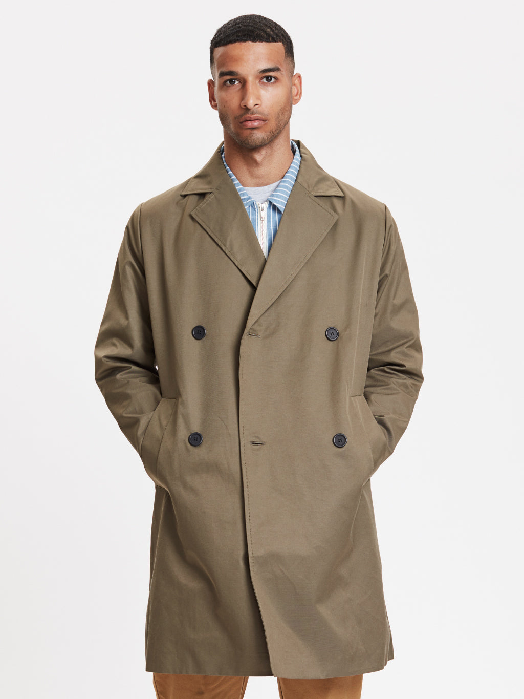 Frankie Double Brested Coat | Olive