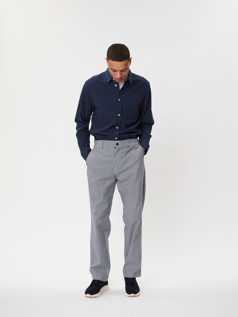 Maverick Trousers | Navy Striped