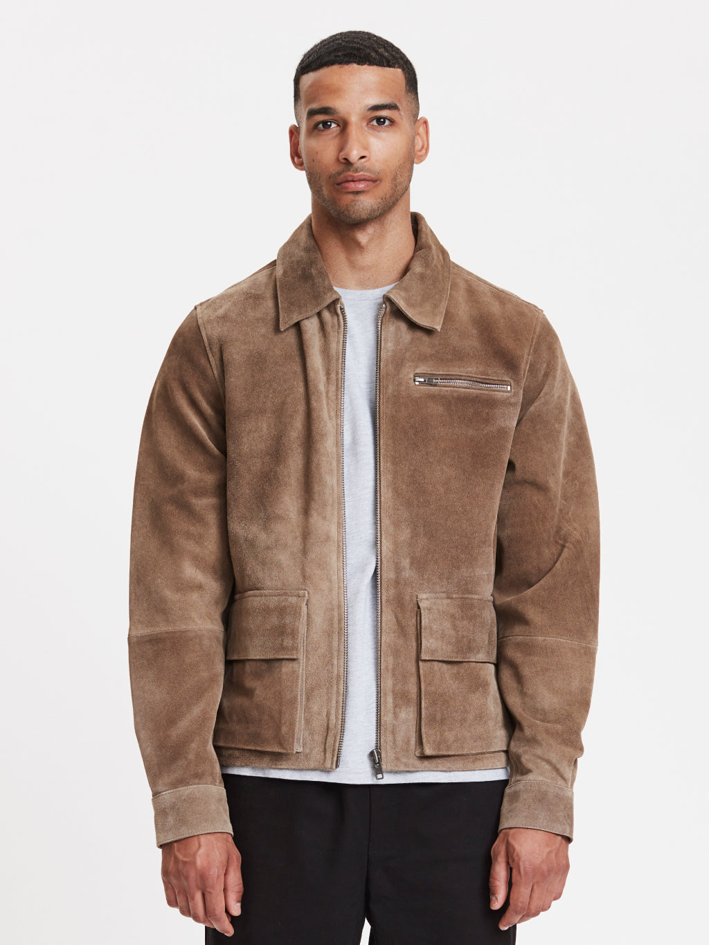Smith Suede Jacket | Beige
