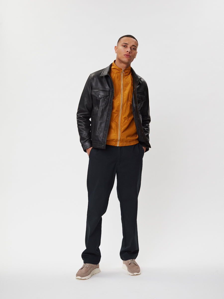 Ponta Leather Jacket | Black