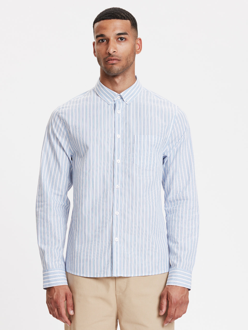 Lagos Shirt | Light Blue Striped