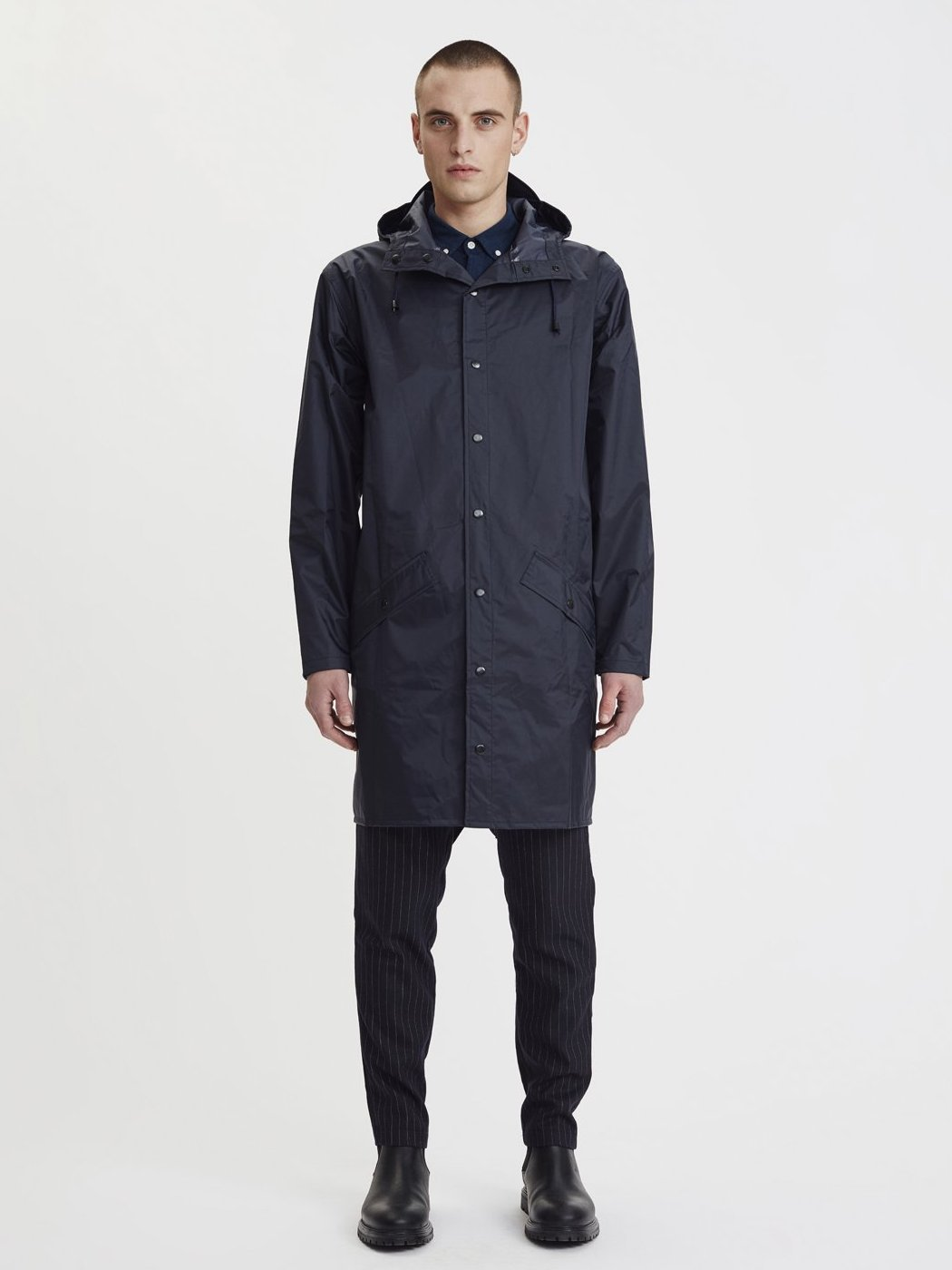 Seattle Raincoat | Navy Blue