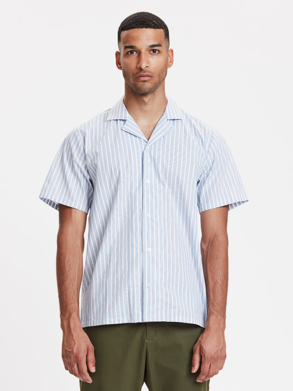 Clark Shirt | Light Blue Striped