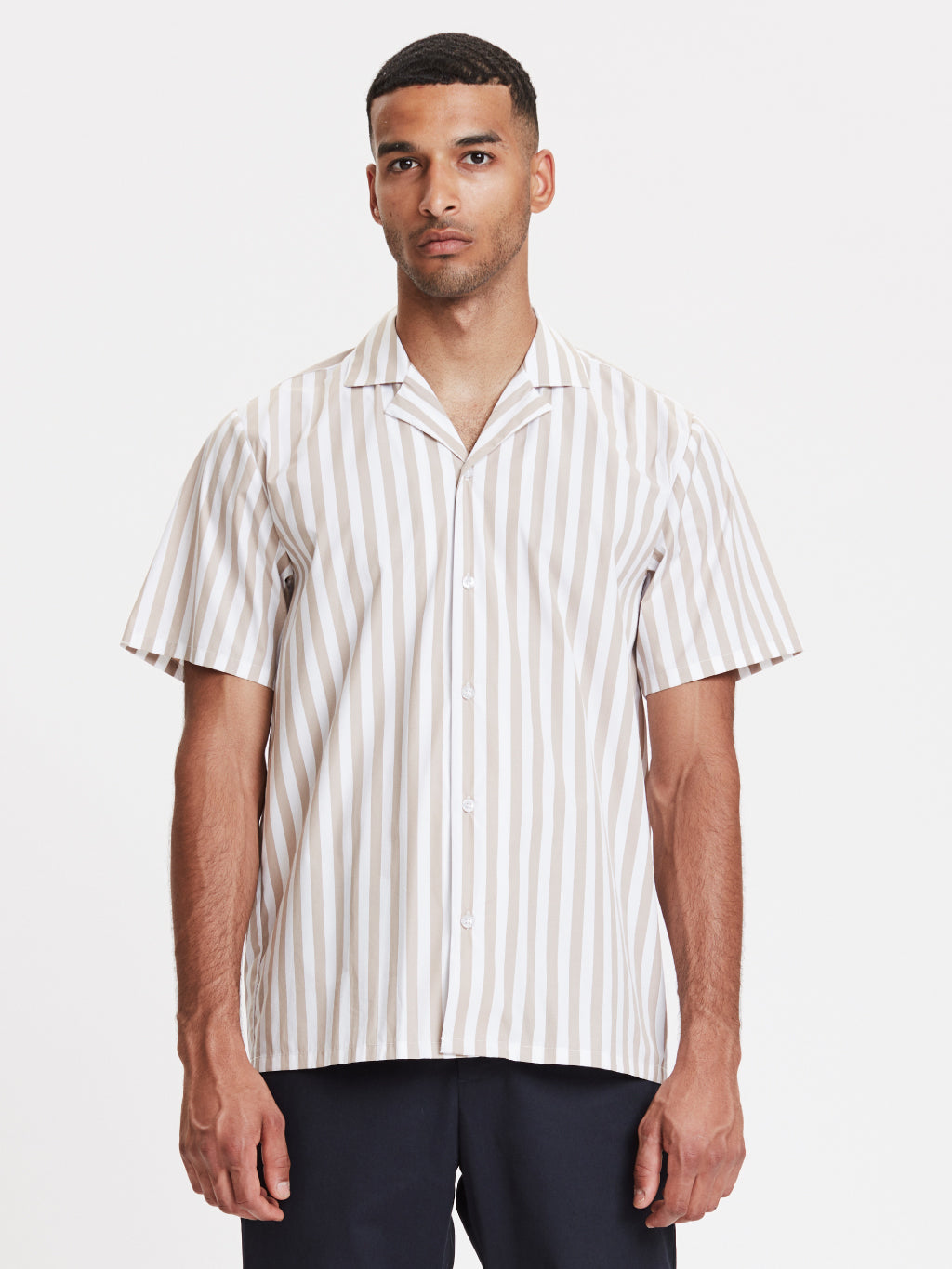 Clark Shirt | Sand Striped