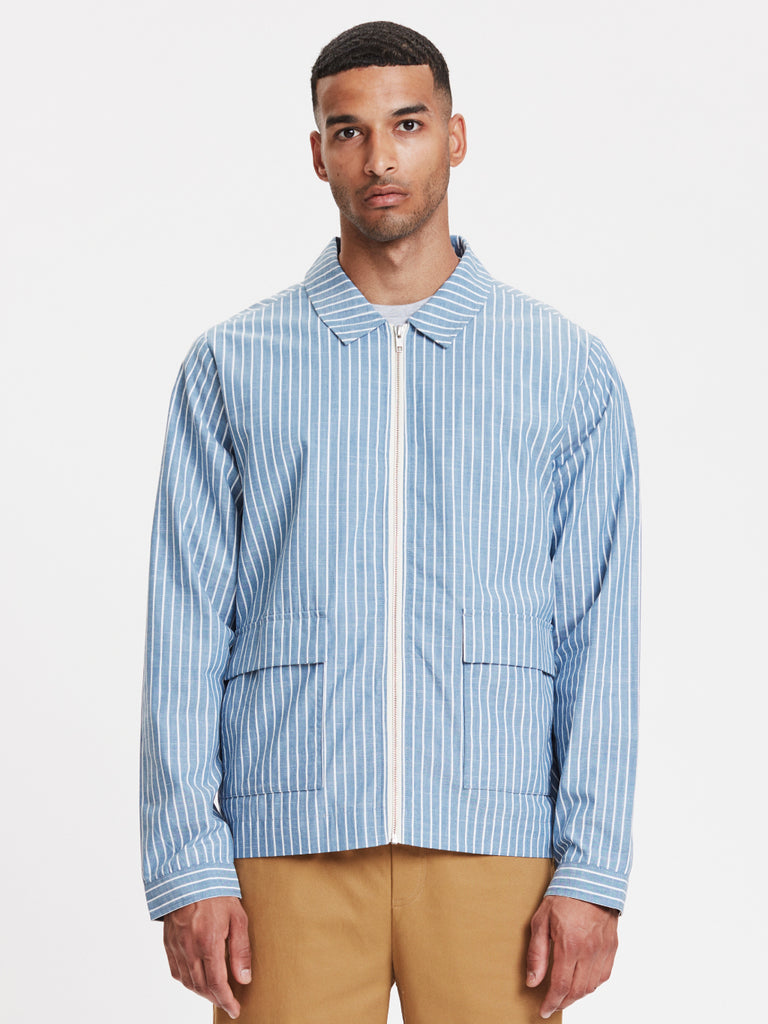 Ortega Jacket | Light Blue Striped
