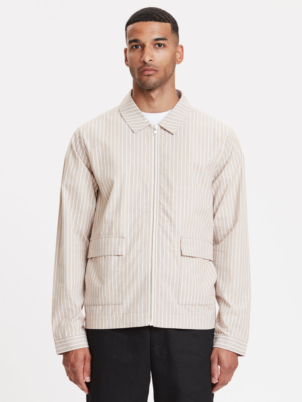 Ortega Jacket | Striped Sand