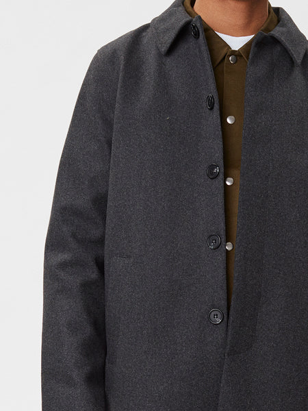 Atlas Wool Coat | Grey Melange