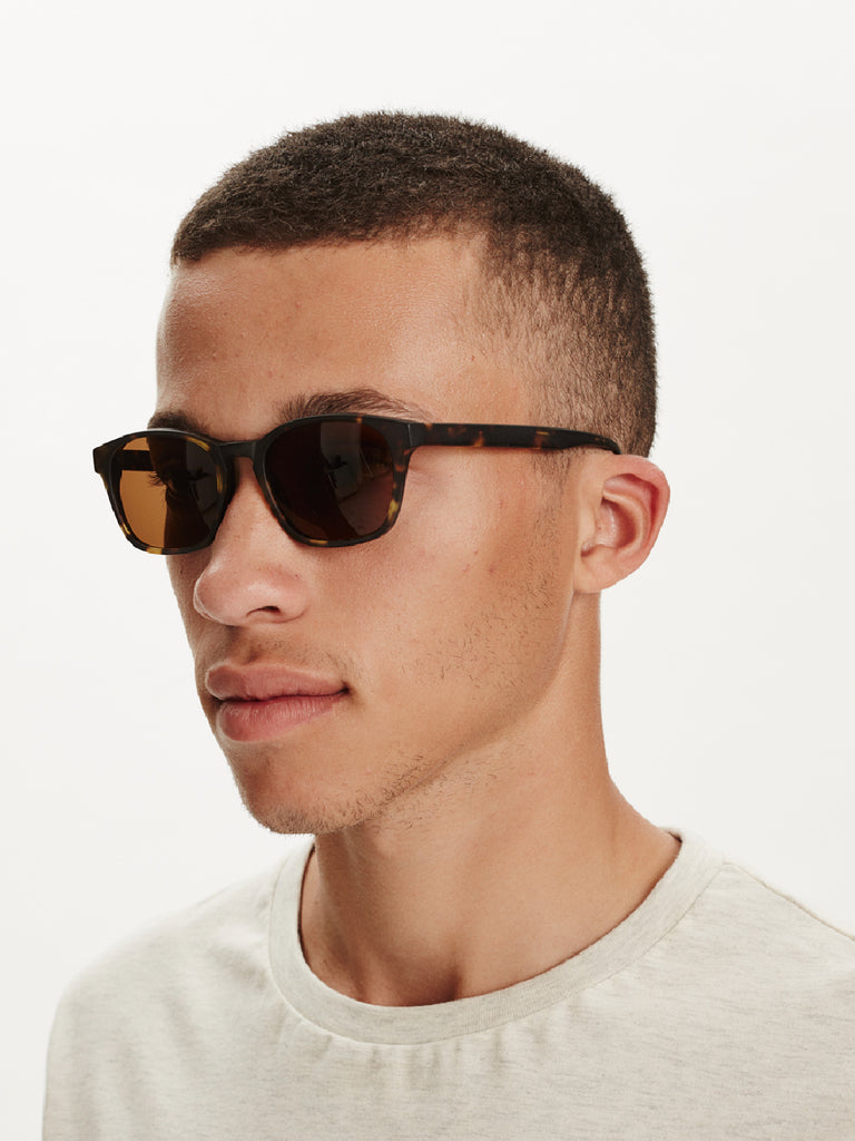 Cancun Sunglasses | Dark Mat Tortoise