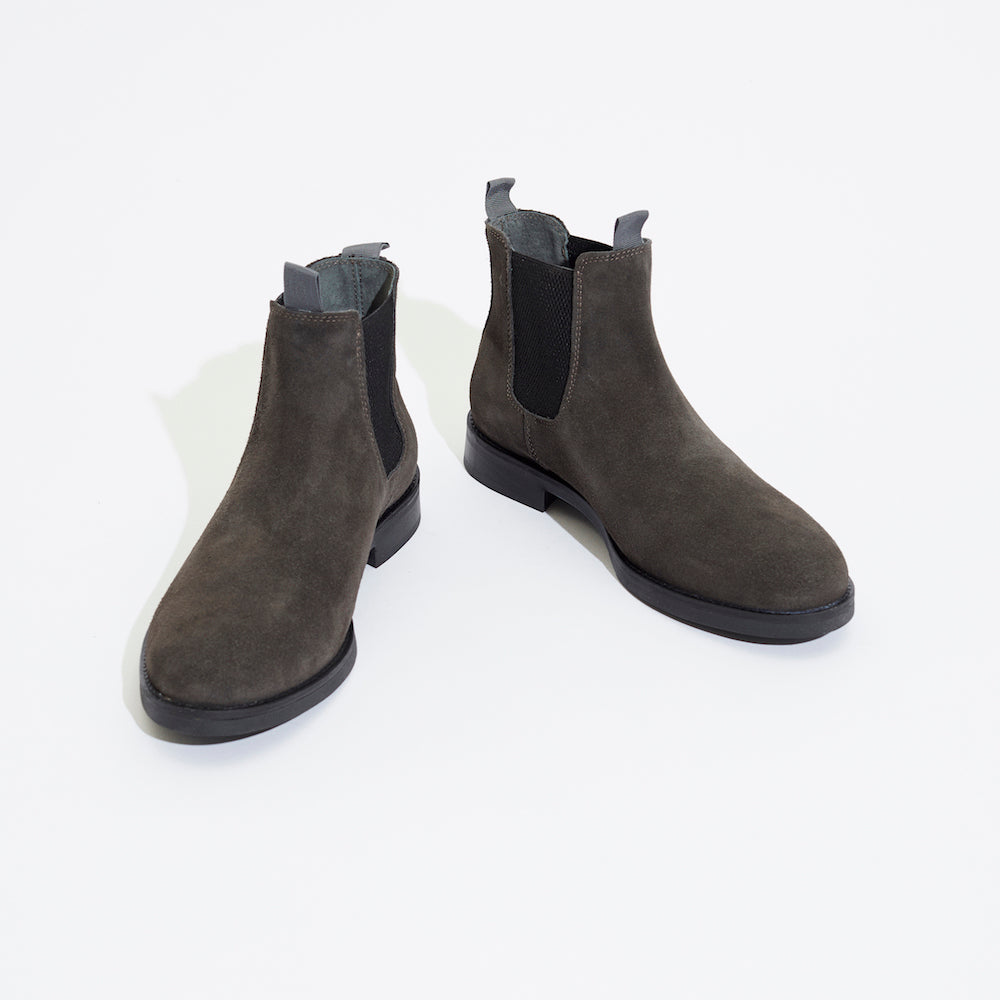 Legends Chelsea boots grey suede front