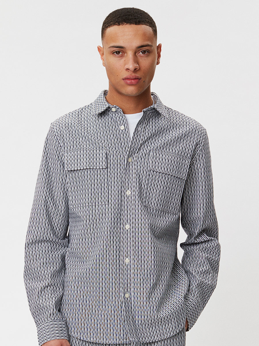 Amalfi Shirt | Navy Striped