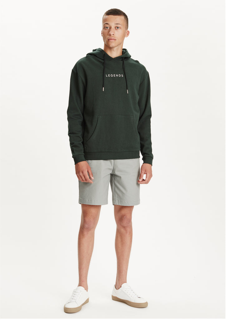 Legends Men's Bottle Green Logo Almera Hoodie Sweatshirt