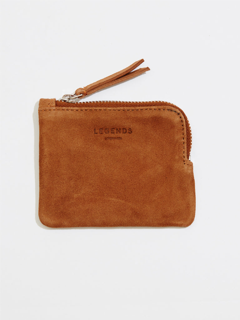 Frankport Suede Wallet | Brown