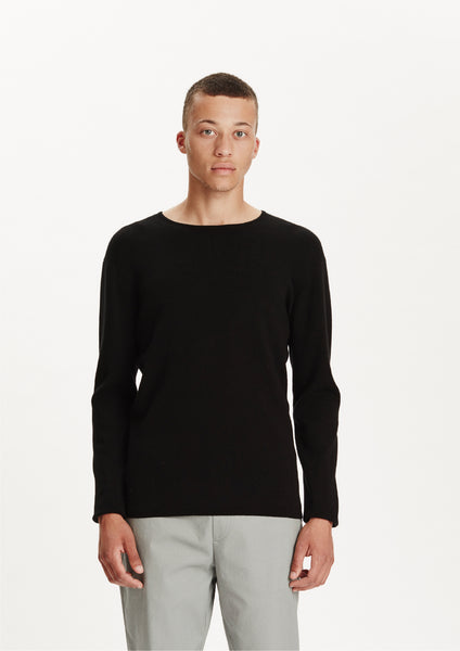 Legends Men's basic Black Cofu Pullover Knit