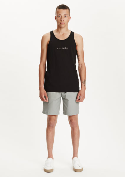 Legends Men's Basic Black Jose Logo Tank Top