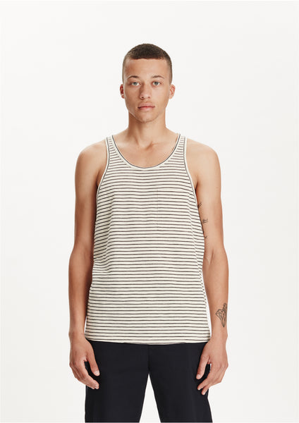 Legends Men's Natural Black Striped Jose Tank Top