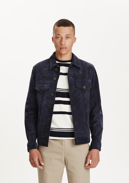 Legends Ponta Suede Jacket dark navy