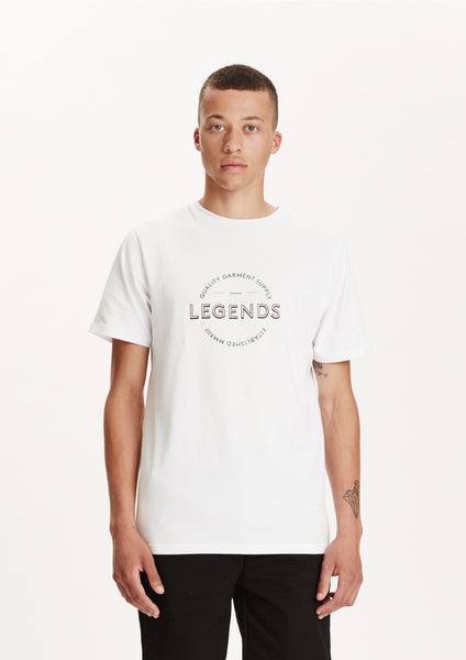 Legends Men's White Supply Logo T-shirt