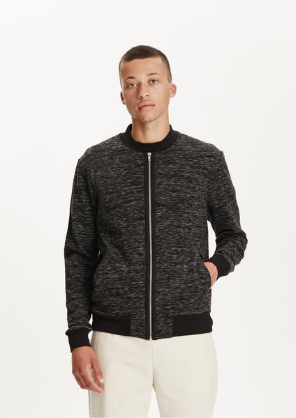 Legends Men's Black Melange Zuma Zip Sweatshirt