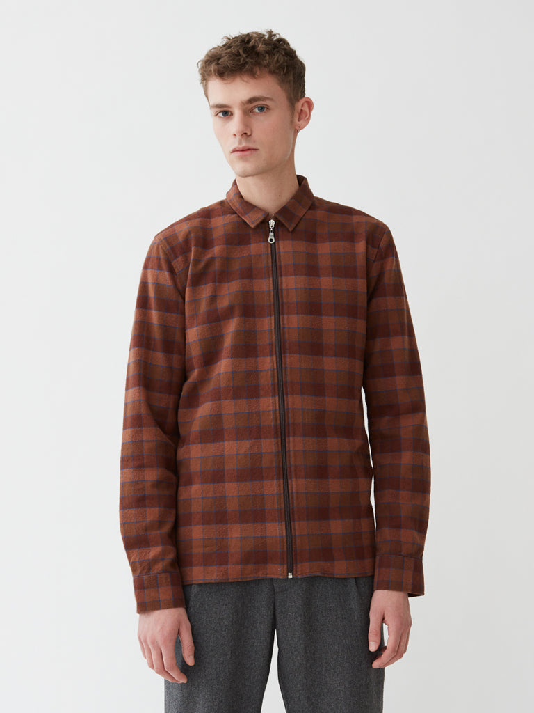 Cardiff Shirt | Brown Check