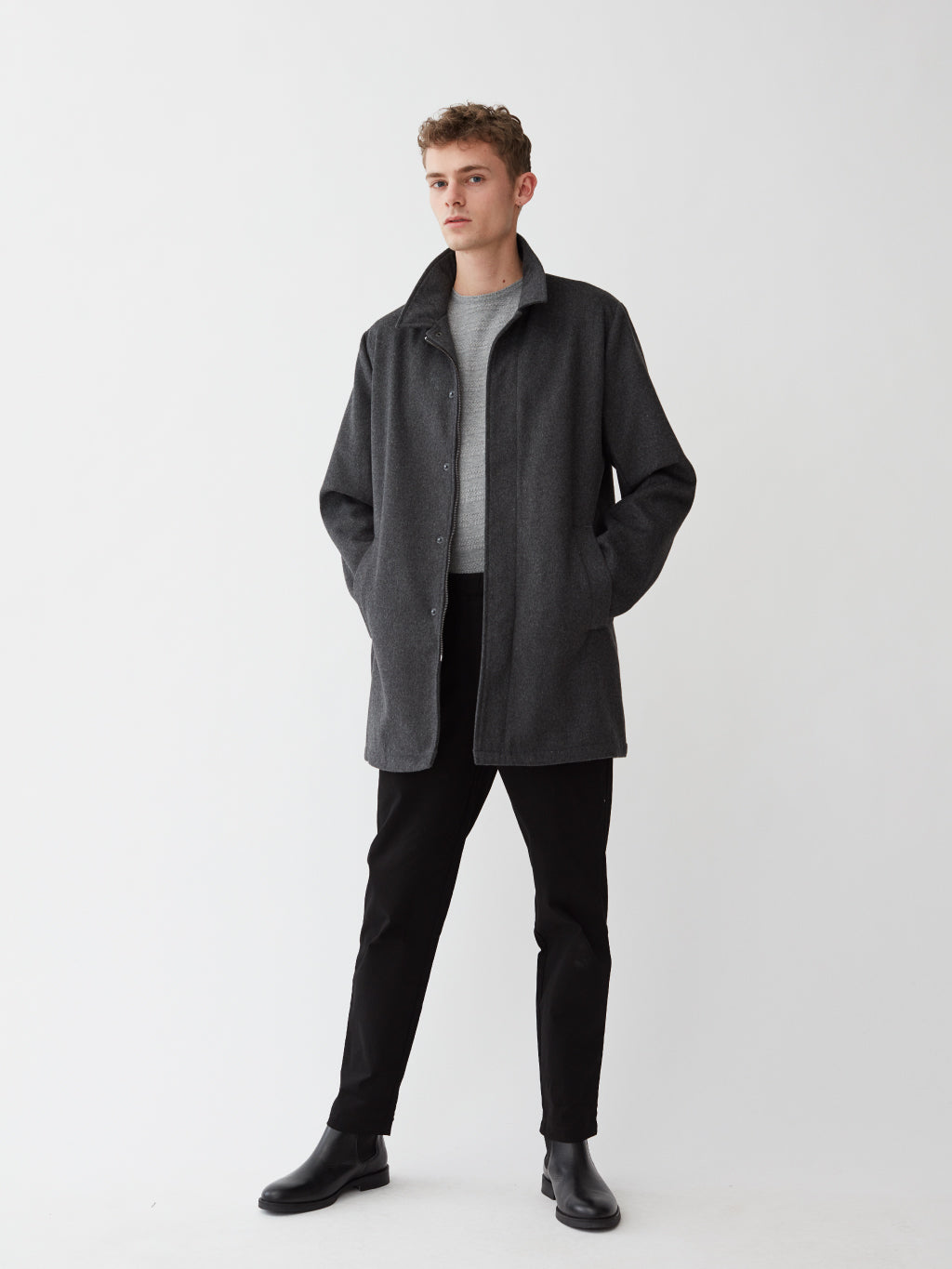 Mac Wool Coat | Charcoal