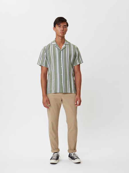 Clark Shirt | Green Stripe