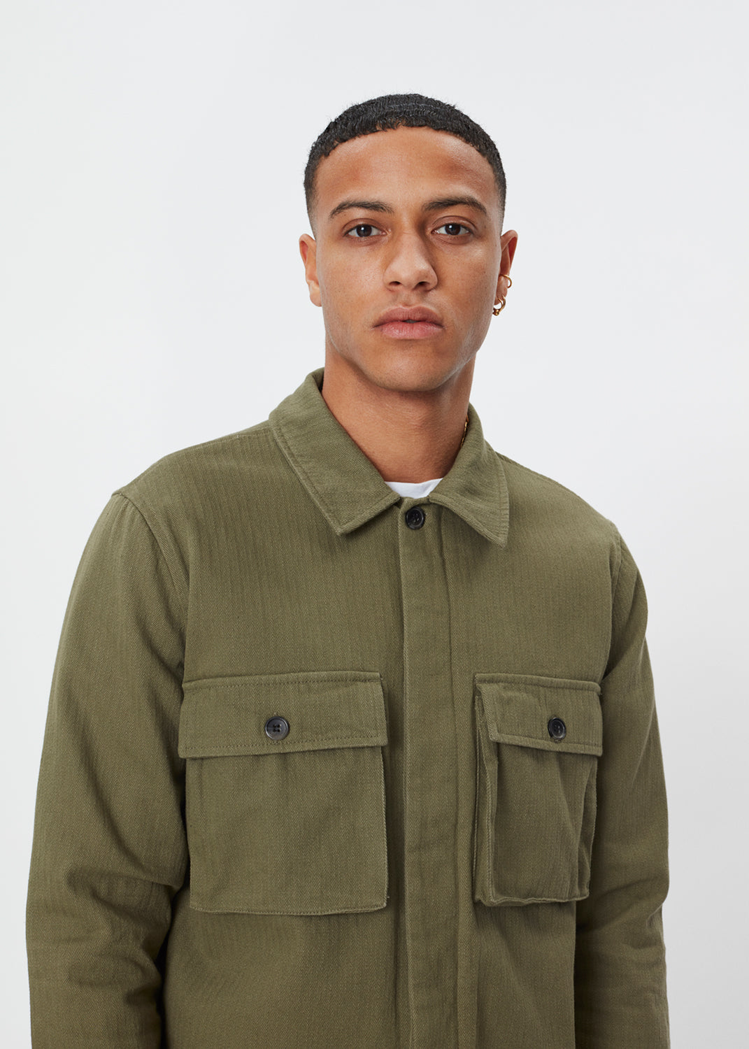 Monterey Overshirt | Olive Canvas