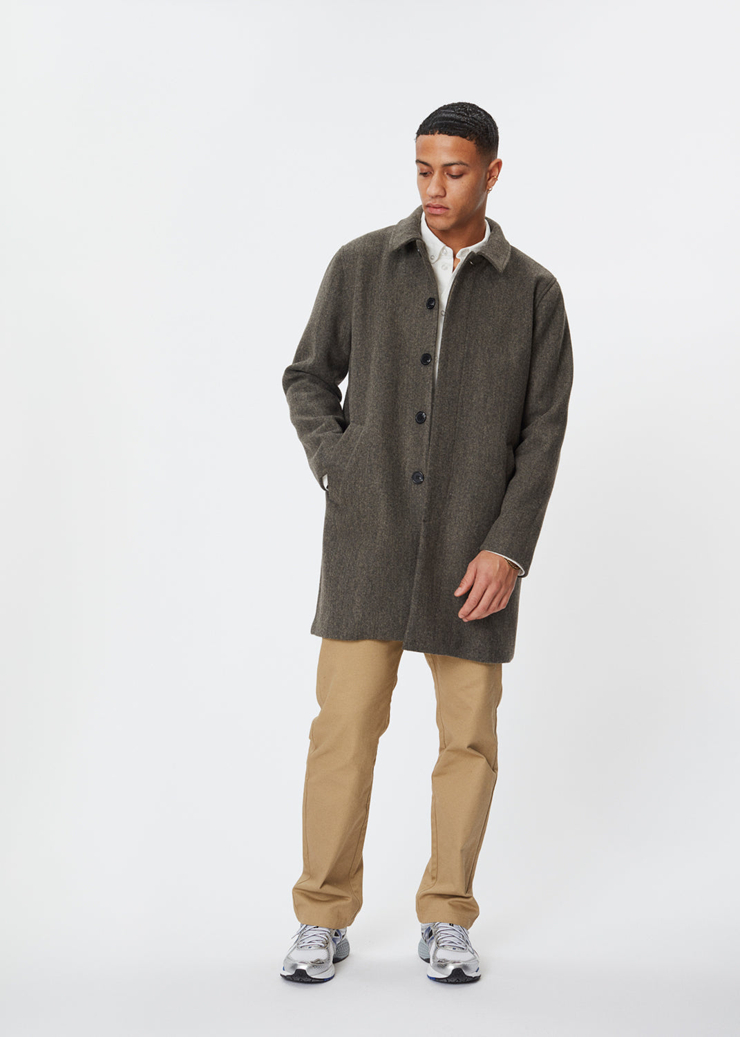 Atlas Coat | Dark Grey Melange