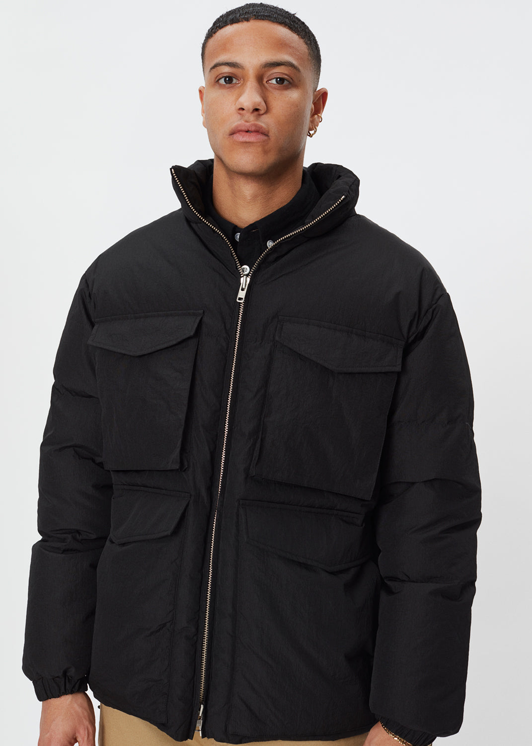 Laudo Puffer Jacket | Black