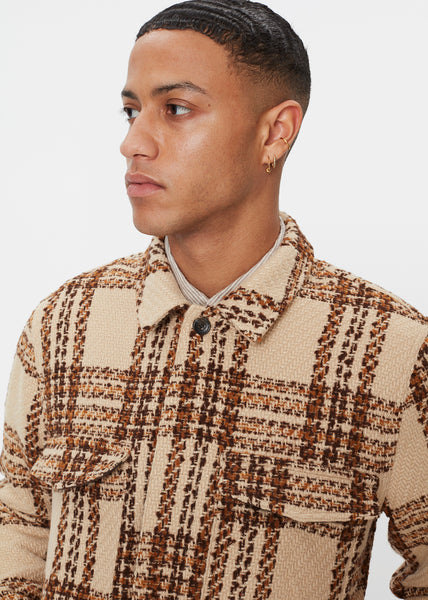 Baton Wool Jacket | Beige Check