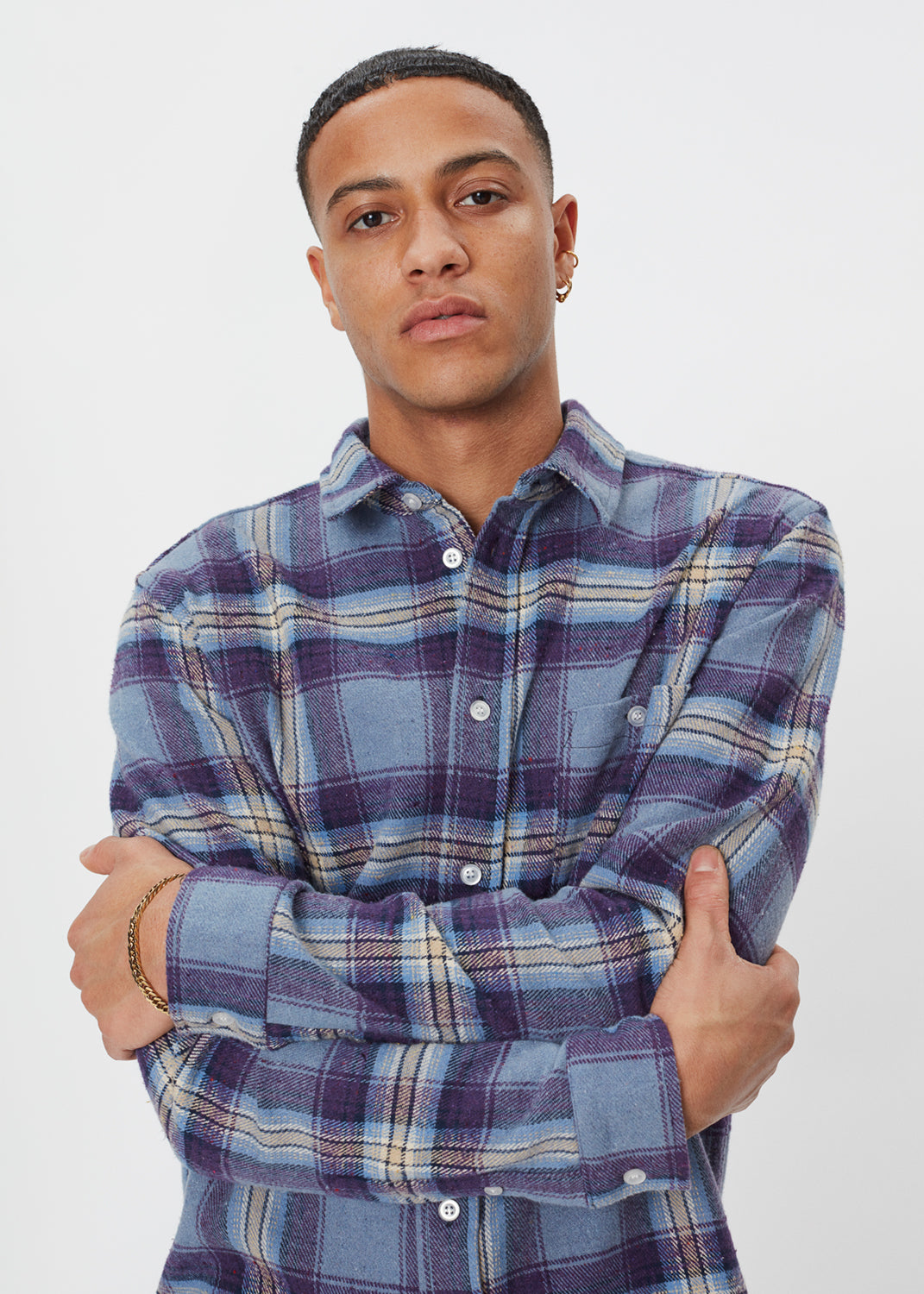 Odessa Check Shirt | Purple Check