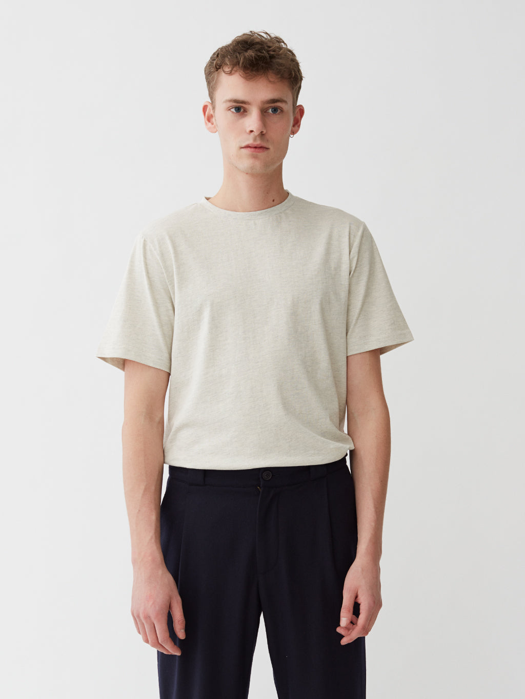 Harbour T-Shirt | Oatmeal Melange