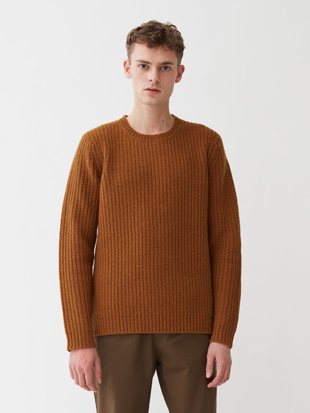Cartona Lambswool Knit | Ocre